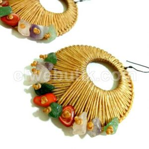 Anting anyam batu mix SI-13